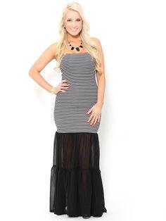 #Mermaid Style Chiffon Maxi #Dress