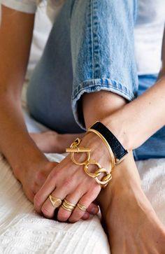 bracelet, gold accessori