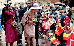 Queen Mathilde and Crown Princess Mary visited the Amager Fælled School to see one of Mary Fonden's anti-bullying programs. Earlier today the ladies atteded a Mary Fonden roundtable at the Royal Palace as part of the Belgian Visit to Denmark. | March 29th, 2017