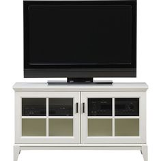 """Paterson White 48"""" Media Console in Media Stands, Consoles   Crate and Barrel"""