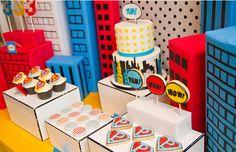 Fiesta infantil Super Héroes al estilo Vintage Pop Art | EntreChiquitines