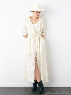 レーシィローブドレス(ドレス)|Rosarymoon(ロザリームーン)|ファッションウォーカー