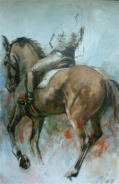 """HORSES """"Elan 2"""" 80 x120 Oil paintinghttps://www.facebook.com/pages/Cath/447137662037857"""
