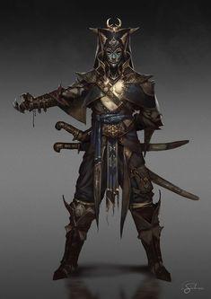 "Men in fantasy art — Ottoman Janissary by Gianluca Rolli ""Here my. Dark Fantasy Art, Fantasy Armor, Medieval Fantasy, Fantasy Character Design, Character Design Inspiration, Character Concept, Character Art, Character Ideas, Armor Concept"