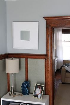 Wood Trim by Decor Adventures, via Flickr plus paint to go with wood trim