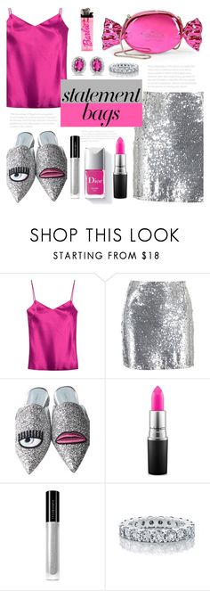 """""""P!nk Madness"""" by luna-jancek ❤ liked on Polyvore featuring Galvan, Boohoo, Chiara Ferragni, Kate Spade, MAC Cosmetics, Couture Colour, Illamasqua, BillyTheTree and statementbags"""