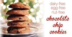 The best dairy, egg, and nut-free chocolate chip cookies you'll ever try.