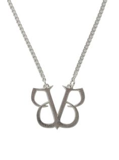 Silver tone necklace from Black Veil Brides with BVB pendant.