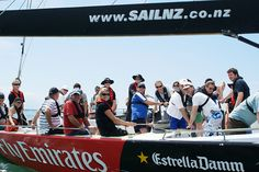 Auckland sailing - Sail on America's Cup Boat, New Zealand's Waitemata Harbour, partipate as crew, exert energy on the grinders or take the helm. America's Cup, Auckland, New Zealand, Sailing, Boat, Wrestling, Candle, Lucha Libre, Dinghy