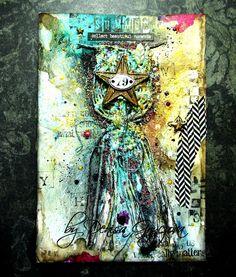 Scrapholka: Summer 79´.   I found on Marta Lapkowska (Maremi's Small Art) - Inspirational Mixed Media on PINTREST Board.