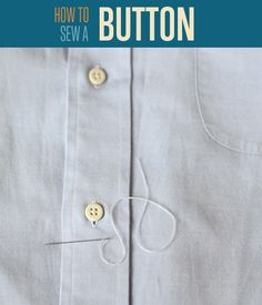 How to Sew a Button | Easy tutorial on how to sew a button. #DiyReady www.diyready.com