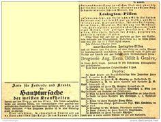 Original-Werbung/ Anzeige 1868 - AVIS FÜR KRANKE UND LEIDENDE /DROGUIST BOLDT GÉNÈVE/2-SPALTIG ca. 65 x 30 + 65 x100  mm