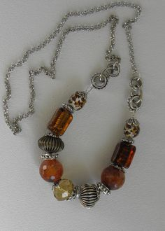 Amberley Handmade Beaded Necklace by bdzzledbeadedjewelry on Etsy, $39.00