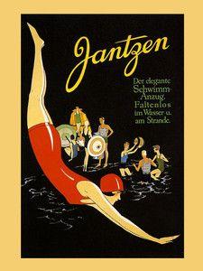 Jantzen Clothing Swimwear Fashion Girl Swim Party Vintage Poster Repro FREE S/H | eBay