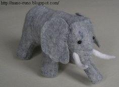 Make an elephant of felt - free pattern