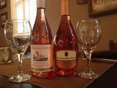 """""""Pink Drinks""""..French Rose' and Italian Moscato"""