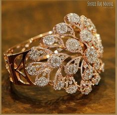Best Diamond Bracelets : This amazing rendition of chrysanthemum flower crafted with the brilliant cut d Gold Rings Jewelry, Jewelry Sets, Silver Jewellery, Indian Wedding Jewelry, Bridal Jewelry, Fashion Rings, Fashion Jewelry, Gold Ring Designs, Diamond Bracelets
