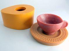 Molde de Silicone Xicara- Arte de Modelar - Arte de Modelar