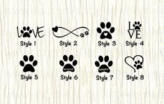 Love paw animal car decal dog love paw word decal paw infinity decal rescue decal adopt decal paw love decal gifts for animal lovers Mini Tattoos, Cute Tattoos, Paw Print Tattoos, Dog Paw Tattoos, Tattoo For Dog, Pet Tattoo Ideas, Tattoo For Parents, Tattoo Small, Puppy Tattoo