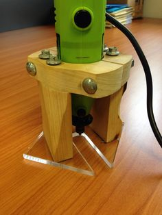DIY rotary tool attachment. 22mm pine, 6mm clear acrylic and various fasteners were used in this model.