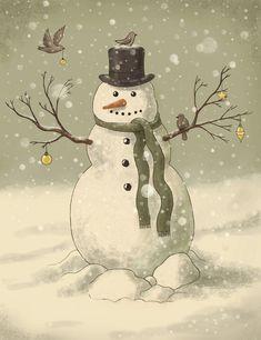 -Love this snowman..