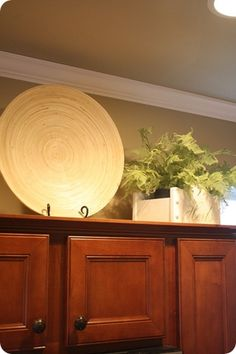 Decorating Above the Kitchen Cabinets ~ Thrifty Decor Chick