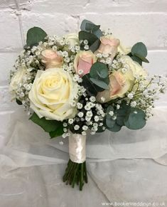 Gorgeous white and pink Bride Bouquet #weddingflowers #weddingroses - Wedding Flowers Liverpool, Merseyside, Bridal Florist, Booker Flowers and Gifts, Booker Weddings