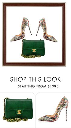 """""""Green"""" by thelittleprincesse ❤ liked on Polyvore featuring Chanel and Christian Louboutin"""