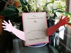 Mother& Day Card Hugs I love you this much by RightBrainy on Etsy Easy Mother's Day Crafts, Mothers Day Crafts For Kids, Mothers Day Cards, Happy Mothers Day, Mather Day, Art Carte, Mother's Day Greeting Cards, Mom Day, Mother's Day Diy