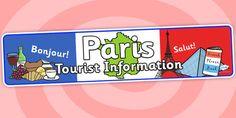 Paris Tourist Information Role Play Banner