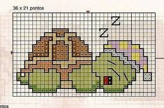 I don& cross-stitch really, but this might make a good colourwork chart. Cross Stitch For Kids, Mini Cross Stitch, Cross Stitch Cards, Cross Stitch Animals, Cross Stitching, Cross Stitch Embroidery, Embroidery Patterns, Cross Stitch Designs, Cross Stitch Patterns