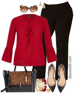 Plus Size Black Trouser Work Outfits Just a couple more basic work outfits featuring my favorite plus size black trousers. They're the perfect weight for year-round wear. Mode Outfits, Urban Outfits, Casual Outfits, Fashion Outfits, Fashion Trends, Fashion Design, Black Outfits, Fashion Ideas, Fashion Clothes