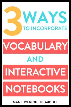 Math interactive notebooks are a great hands-on tool to engage students in the content and process. Three ways to incorporate vocabulary into your INBs. Math Classroom, Classroom Activities, Google Classroom, Math Vocabulary, Vocabulary Building, Classroom Solutions, Professional Learning Communities, Middle School Teachers, 5th Grade Math