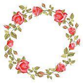 Wreath from rose Rose Garland, Flower Garlands, Flower Frame, My Flower, Rose Vine Tattoos, Apple Watch Wallpaper, Rose Vines, Decoupage Vintage, Borders And Frames