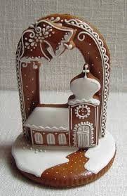 Libuska Mokra Christmas Desserts, Christmas Baking, Christmas Cookies, Christmas Decorations, Cute Cookies, Sugar Cookies, Christmas Gingerbread, Gingerbread Cookies, Beautiful Cakes