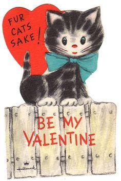 Vintage Valentine - Cat