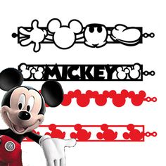 "Mickey Mouse tattoos | Mickey Mouse Tattoo-Bandz - Colors : Black and Red - ""Mickey"" - Mickey ..."