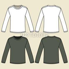 Blank long-sleeved T-shirts template by nikolae, Royalty free ...