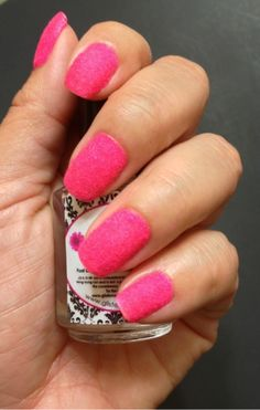 Hot Pink Fuzzy Nails from YouPolish #nailpolish