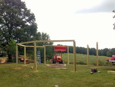 How to Build a Pergola and Fire Pit by Little White House Blog featured on @Remodelaholic