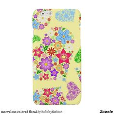 marvelous colored floral glossy iPhone 6 case