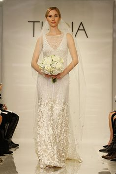 """This bedazzled gown (Style """"Lorraine"""") from THEIA was inspired by a snow drift!"""