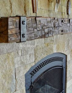 Hand Hewn Fireplace Mantel Beam