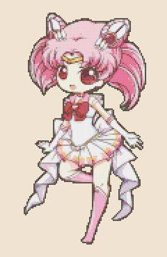 Chibi SailorChibiusa pdf cross stitch di PDFanimeCrossStitch, $4.00