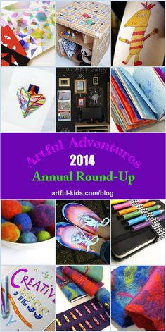 Artful Adventures - Annual Round-up of Projects 2014: artful-kids.com/blog