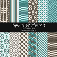 Patterned Paper - By the Sea by Paperweight Memories on Creative Market