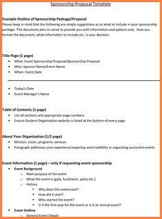 9+ Event Sponsorship Proposal Sample | Bussines Proposal 2017