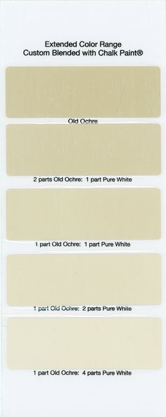 Chalk Paint® Sample Board Colors- all in a row