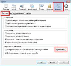 Se sul proprio computer è stato installato più di un browser web, occorre che in Windows sia configurato il browser da considerare come predefinito.