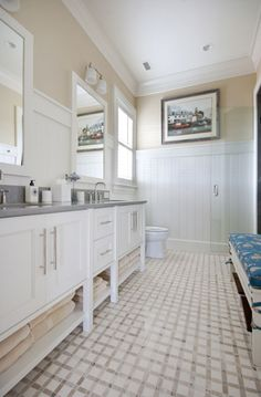 Guest house ideas, bunk room bath - southernlumbermillwork